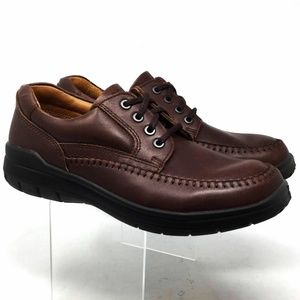 Ecco Women's Lace Up Loafers Size 9/9.5us Brown